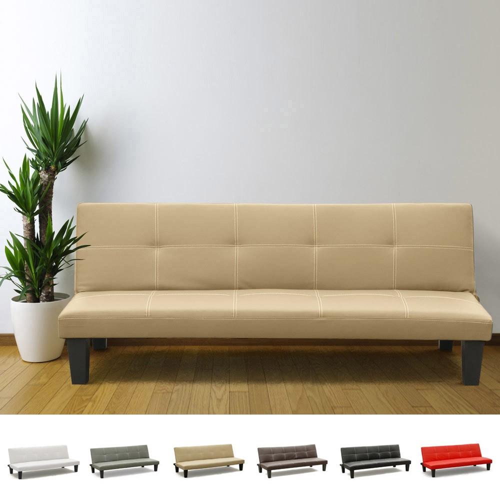 miniature 20 - Canapé Clic Clac convertible 3 places similicuir économique Topazio