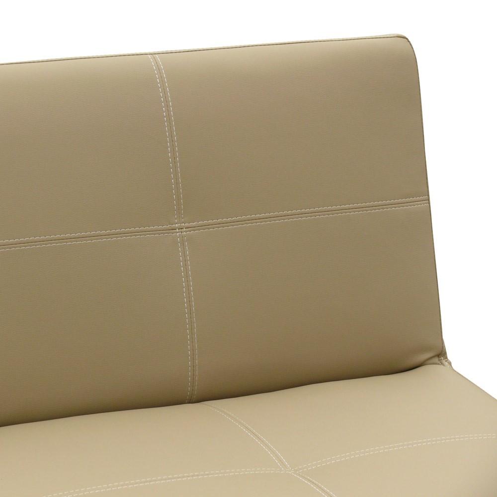 miniature 24 - Canapé Clic Clac convertible 3 places similicuir économique Topazio
