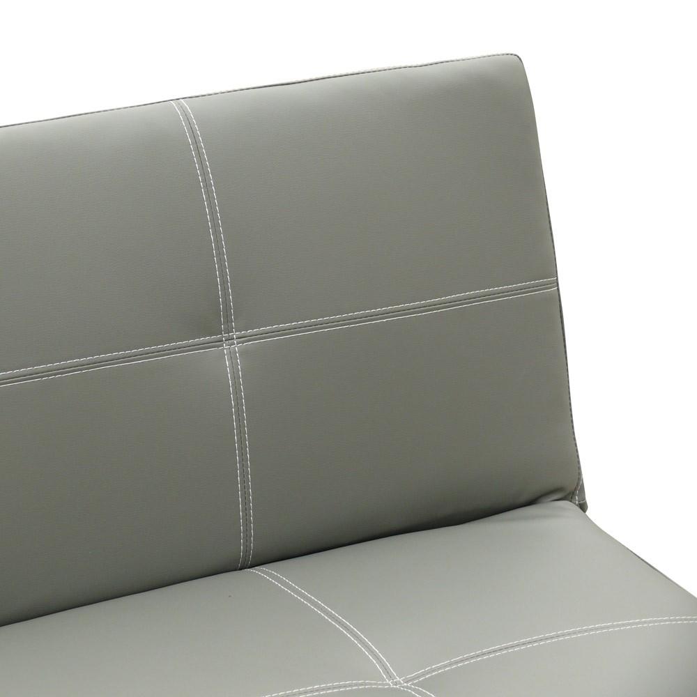 miniature 49 - Canapé Clic Clac convertible 3 places similicuir économique Topazio