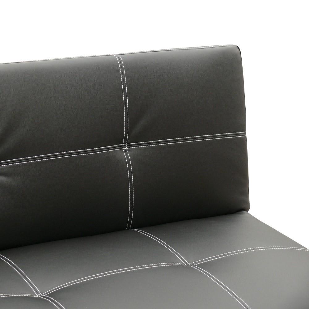 miniature 30 - Canapé Clic Clac convertible 3 places similicuir économique Topazio