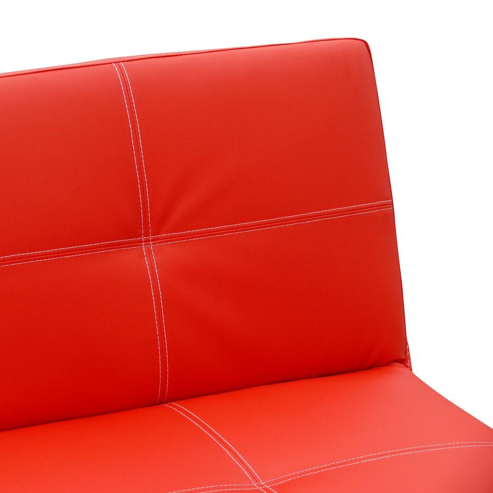 miniature 36 - Canapé Clic Clac convertible 3 places similicuir économique Topazio