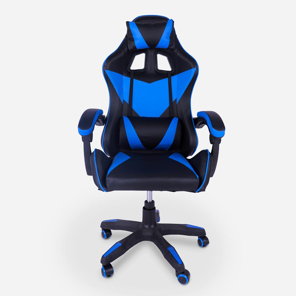 Chaise de jeu appuie-tête ergonomique et coussin lombaire Understop Sky