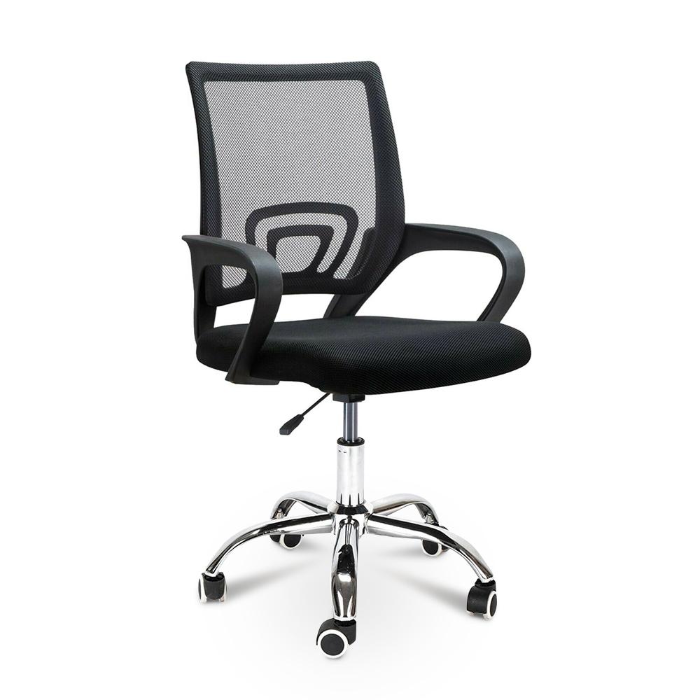 Chaise de bureau ergonomique avec support lombaire en tissu respirant Officium