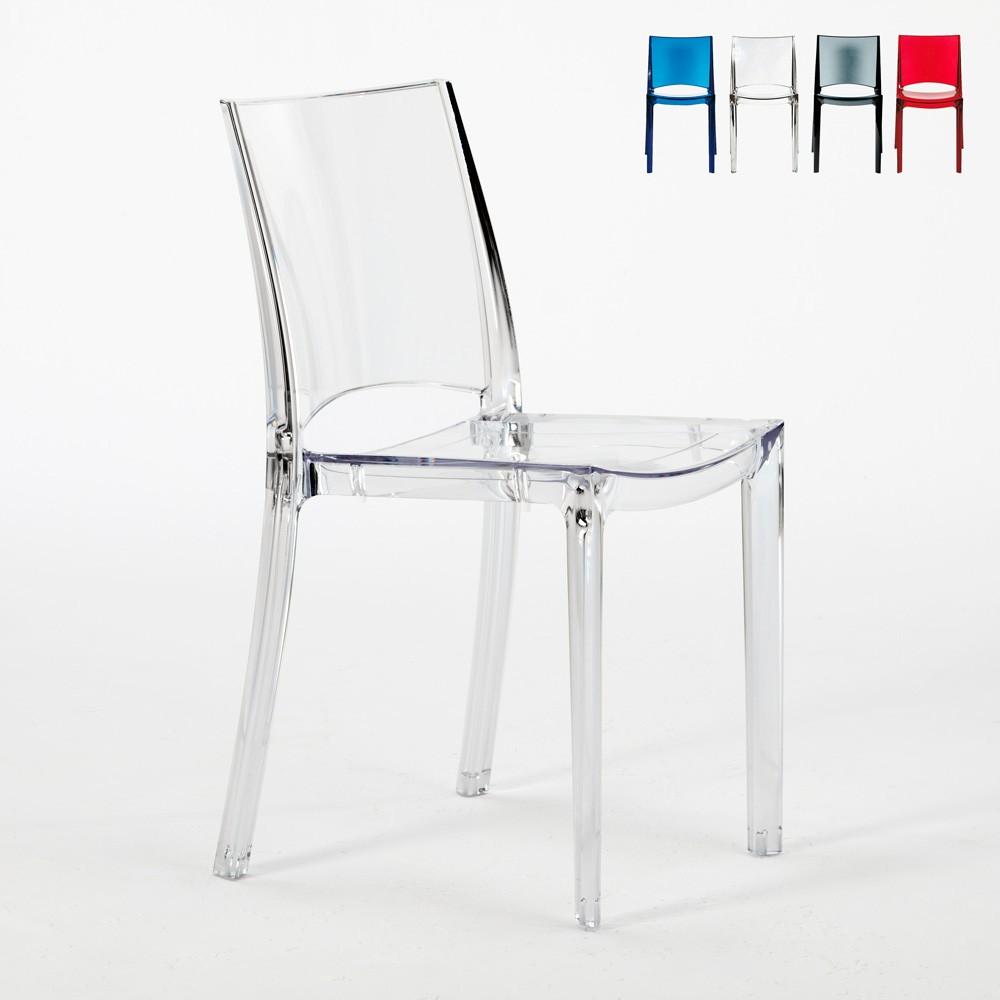 Chaise transparente salle à manger bar empilable B SIDE Grand Soleil