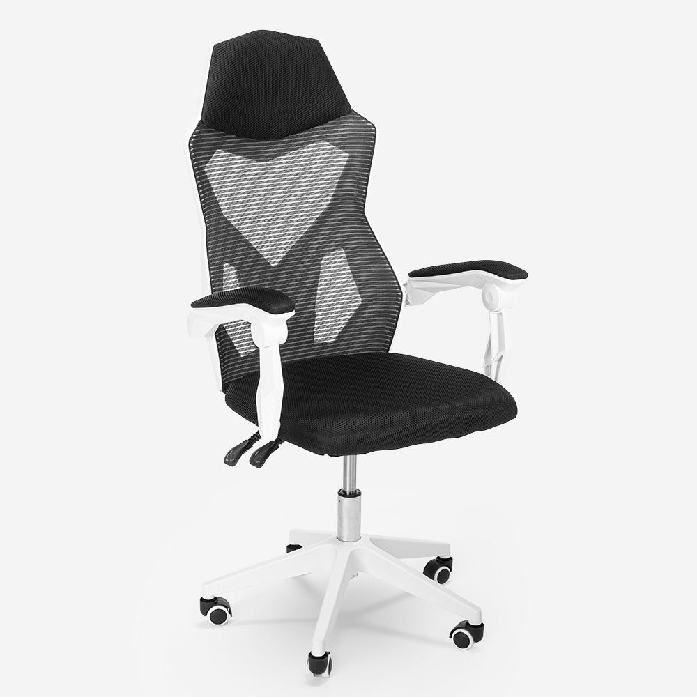 Chaise de jeu ergonomique respirante au design futuriste Gordian