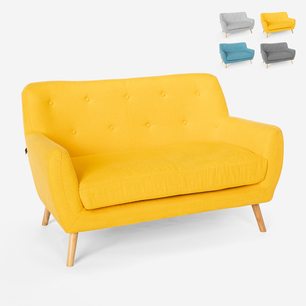 Canapé 2 places en tissu de style scandinave confortable moderne Irvine