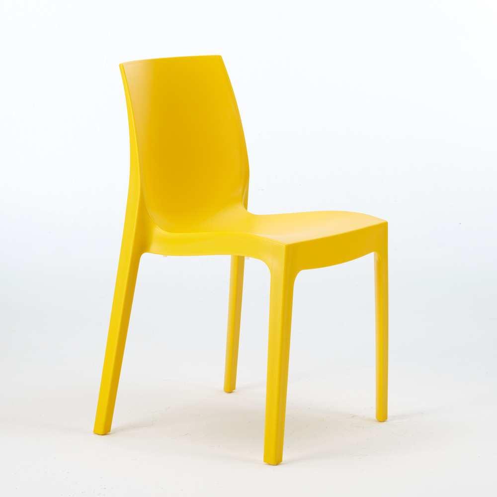 miniature 32 - Chaise en polypropylène empilable Salle à Manger café bar Rome Grand Soleil