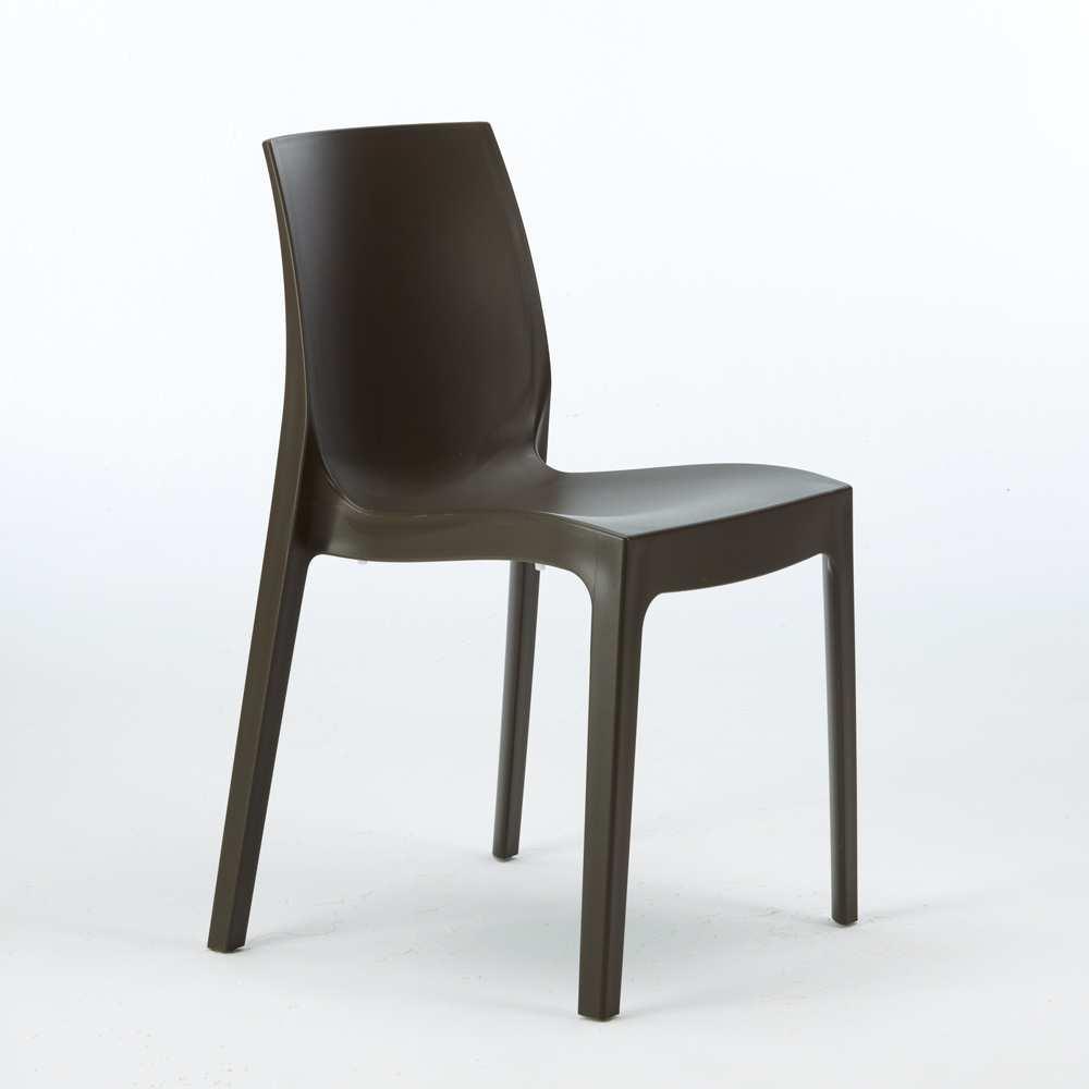 miniature 56 - Chaise en polypropylène empilable Salle à Manger café bar Rome Grand Soleil