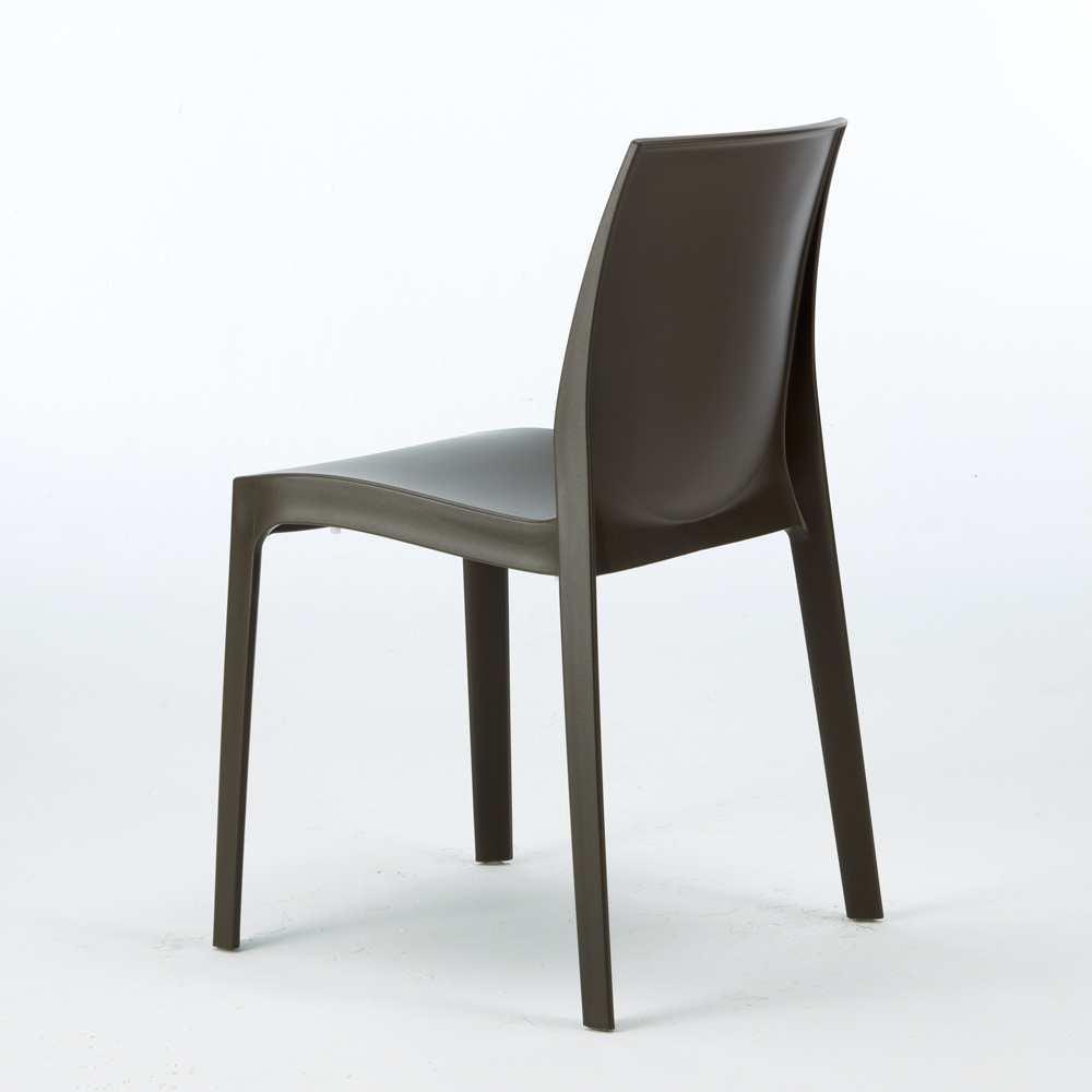 miniature 57 - Chaise en polypropylène empilable Salle à Manger café bar Rome Grand Soleil