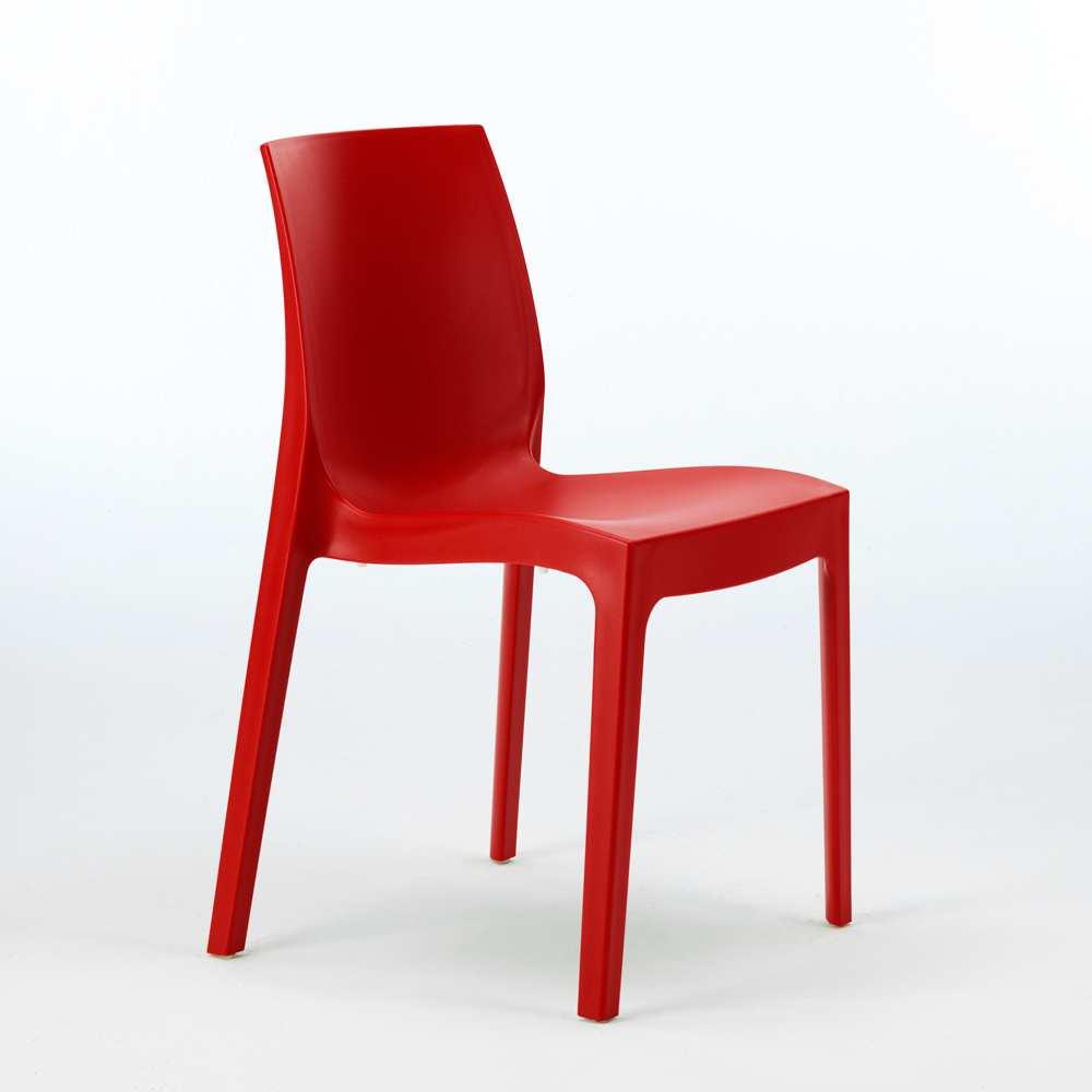 miniature 62 - Chaise en polypropylène empilable Salle à Manger café bar Rome Grand Soleil