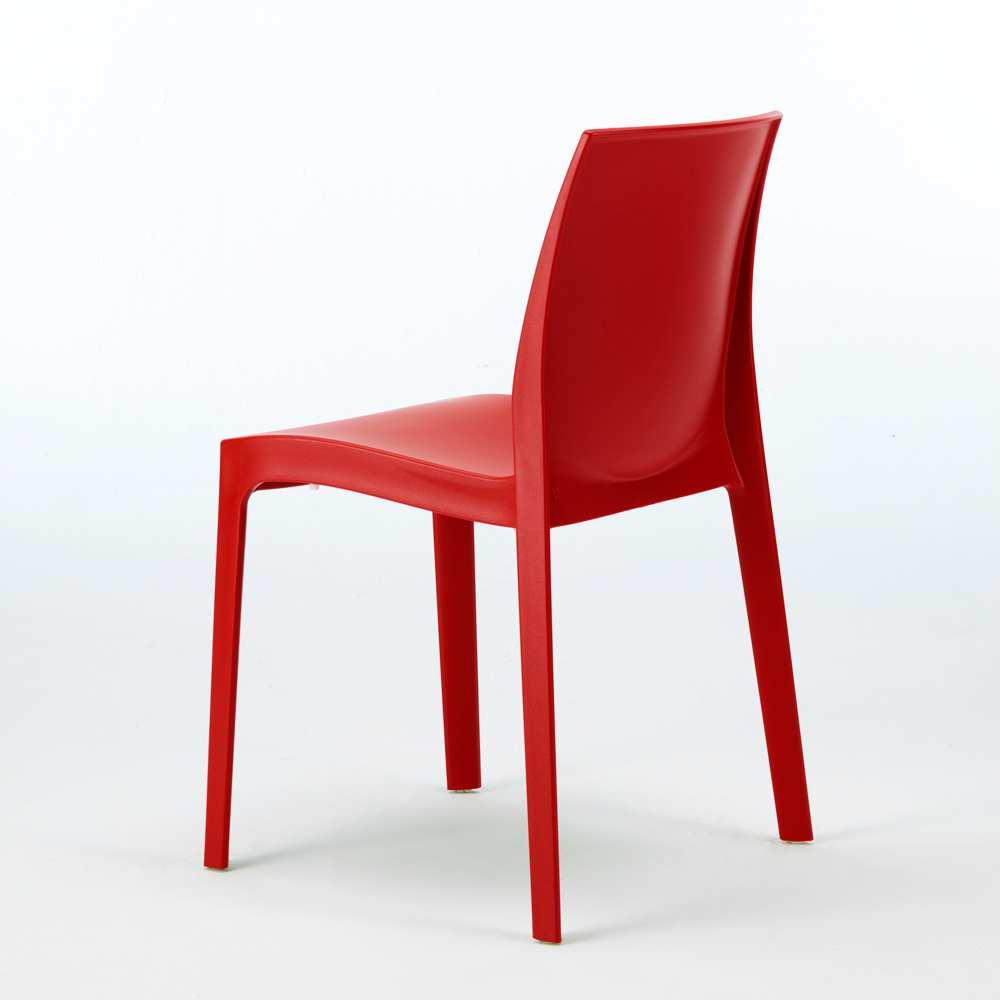 miniature 63 - Chaise en polypropylène empilable Salle à Manger café bar Rome Grand Soleil