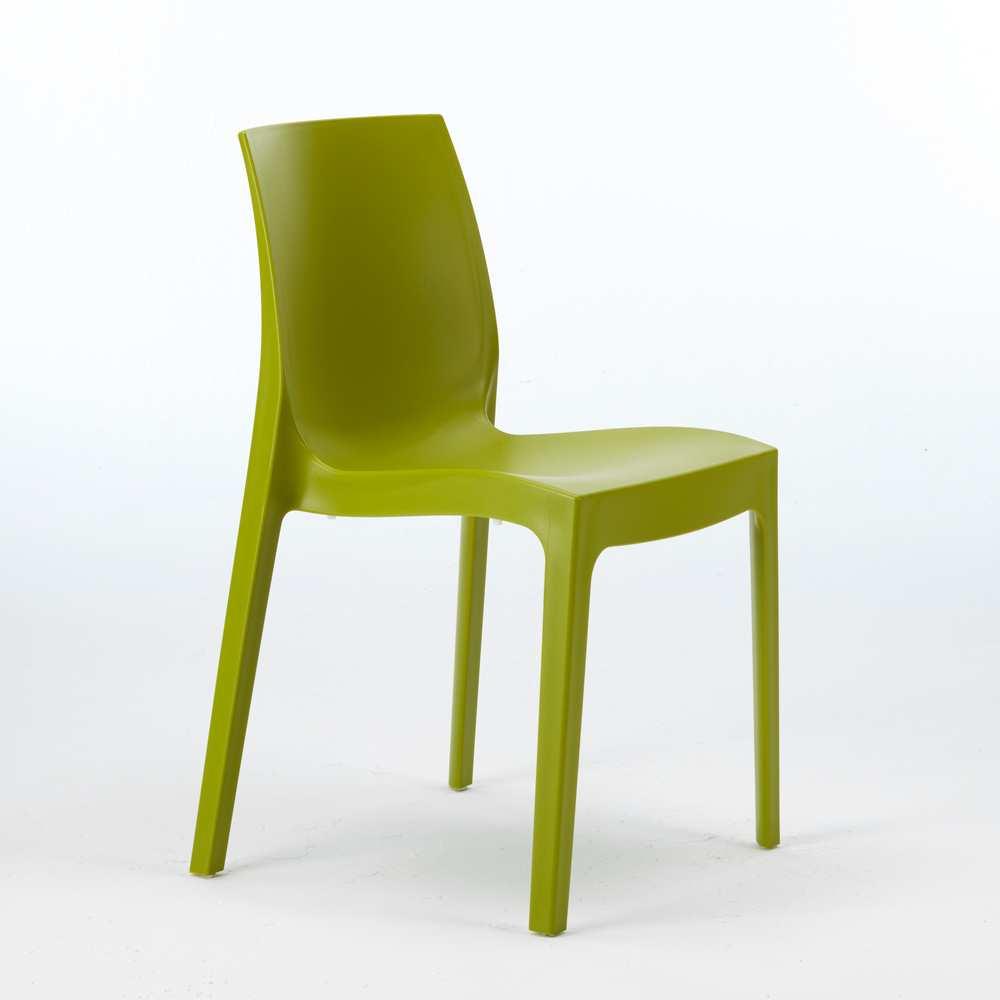miniature 38 - Chaise en polypropylène empilable Salle à Manger café bar Rome Grand Soleil