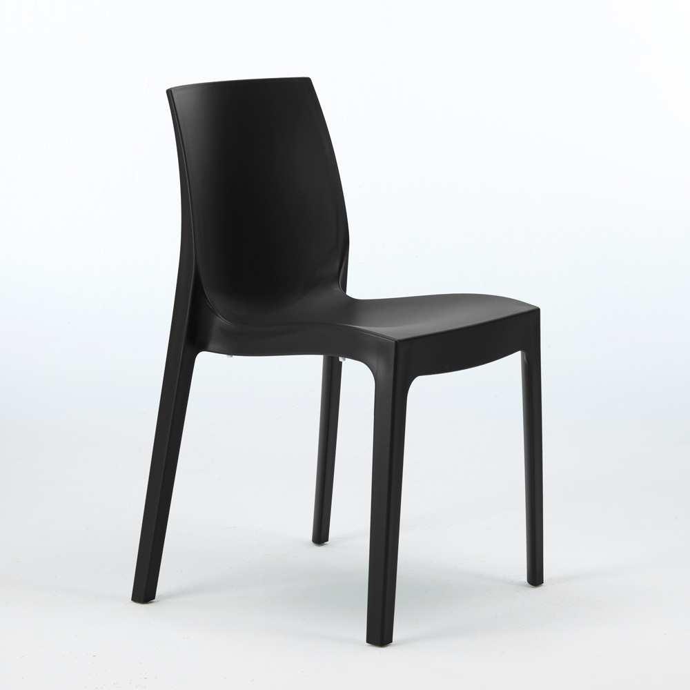 miniature 50 - Chaise en polypropylène empilable Salle à Manger café bar Rome Grand Soleil