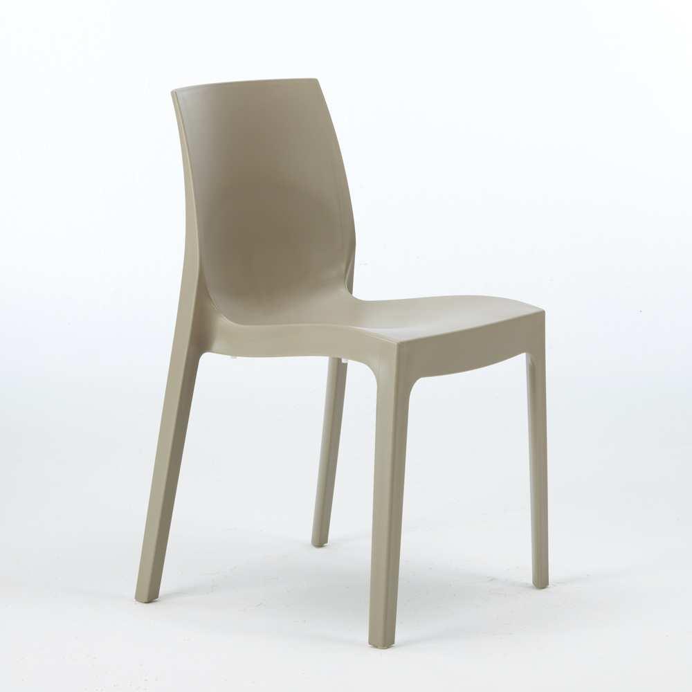 miniature 20 - Chaise en polypropylène empilable Salle à Manger café bar Rome Grand Soleil
