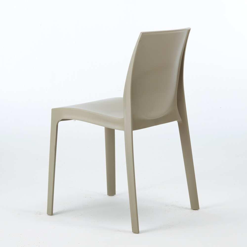 miniature 21 - Chaise en polypropylène empilable Salle à Manger café bar Rome Grand Soleil