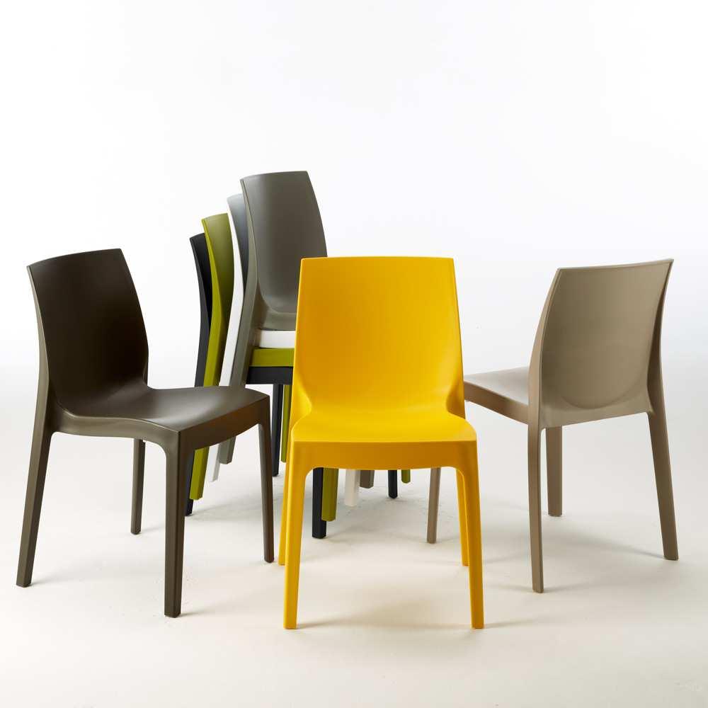 miniature 52 - Chaise en polypropylène empilable Salle à Manger café bar Rome Grand Soleil