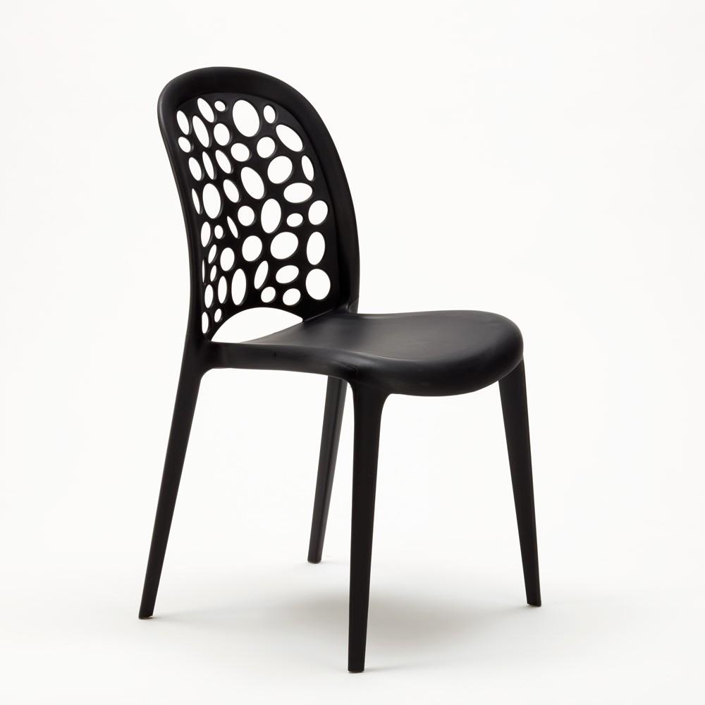 miniature 21 - Chaise salle à manger café bar restaurant jardin polypropylène empilable Design