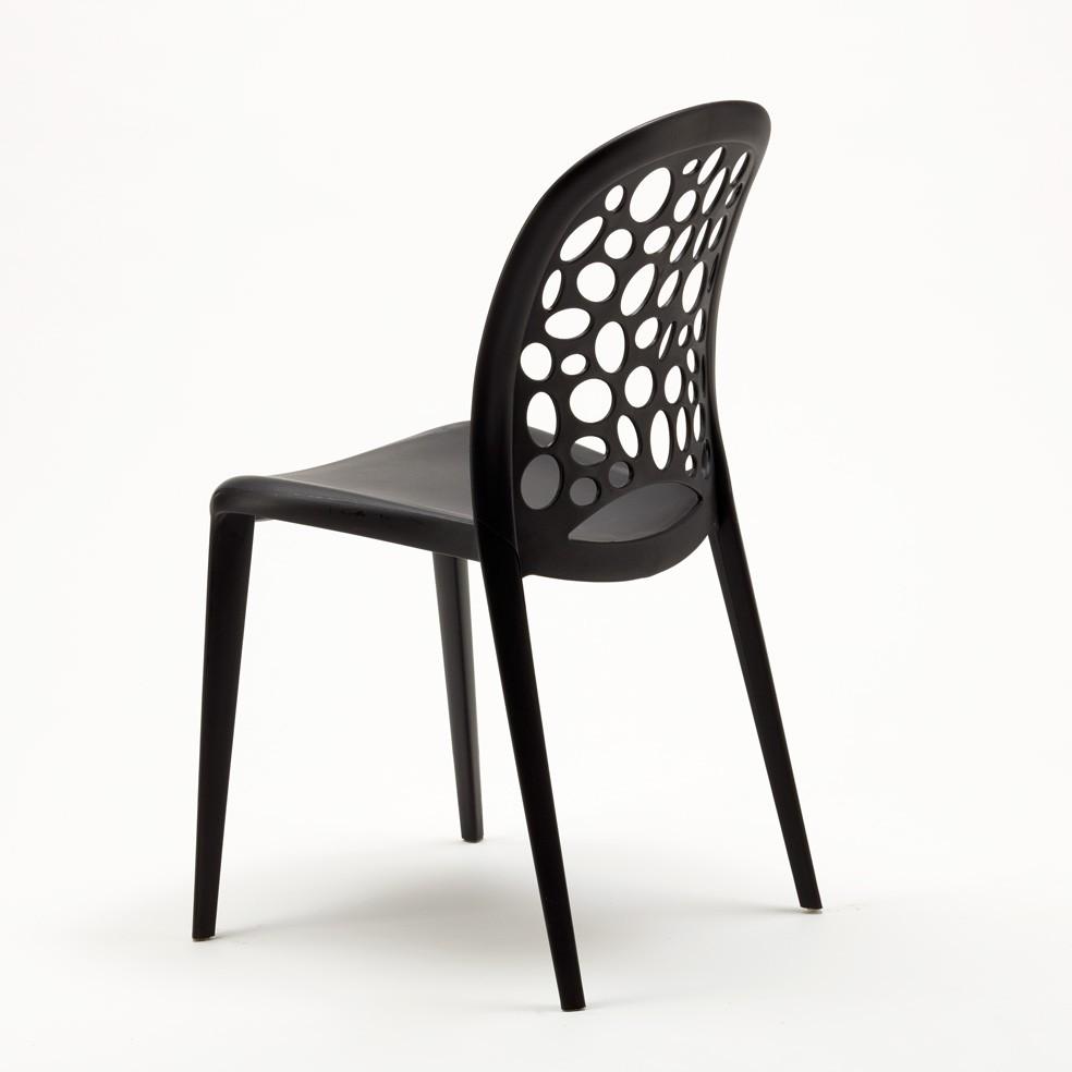 miniature 22 - Chaise salle à manger café bar restaurant jardin polypropylène empilable Design