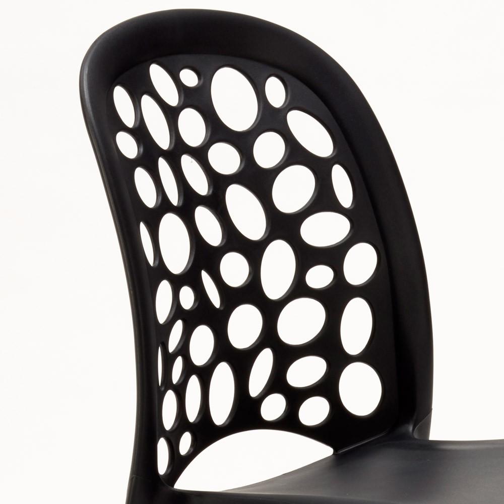 miniature 23 - Chaise salle à manger café bar restaurant jardin polypropylène empilable Design