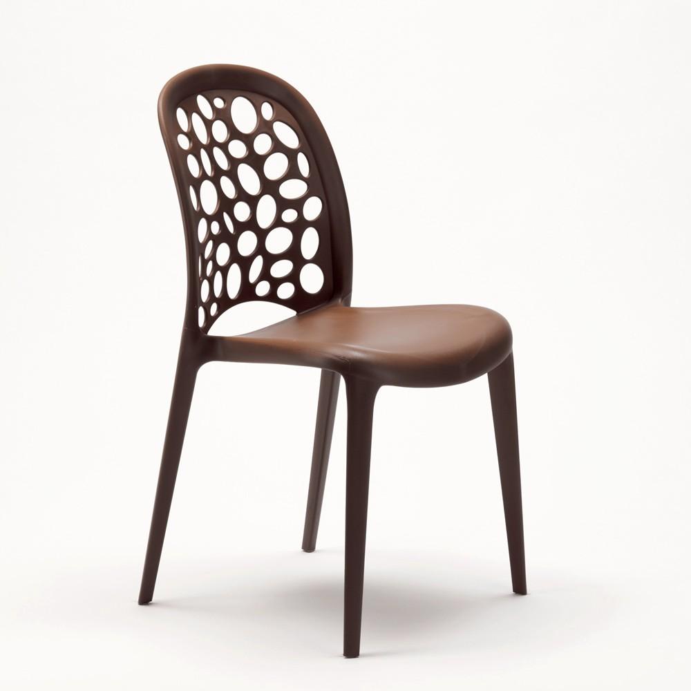 miniature 56 - Chaise salle à manger café bar restaurant jardin polypropylène empilable Design