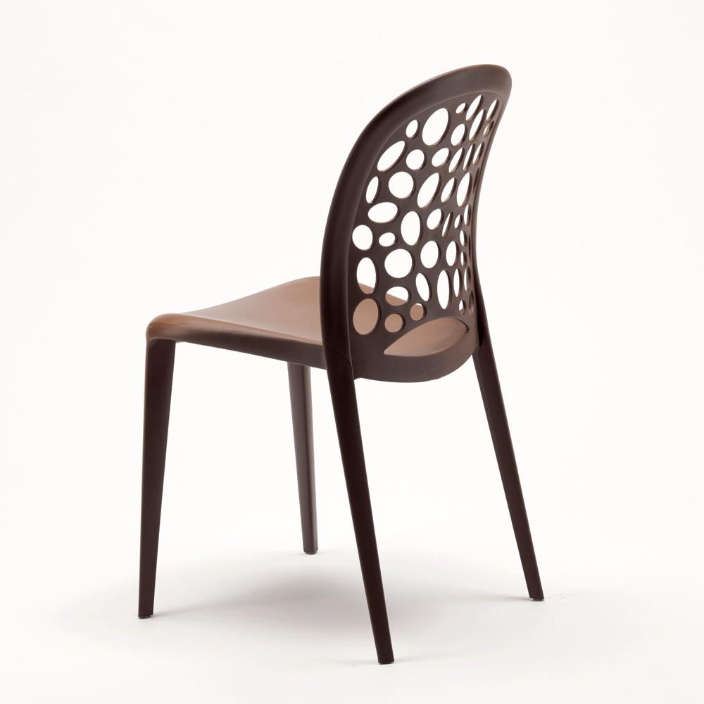miniature 57 - Chaise salle à manger café bar restaurant jardin polypropylène empilable Design