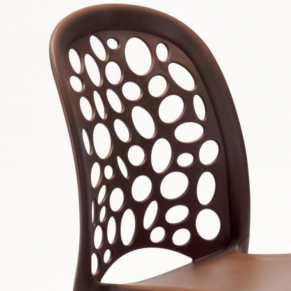 miniature 58 - Chaise salle à manger café bar restaurant jardin polypropylène empilable Design