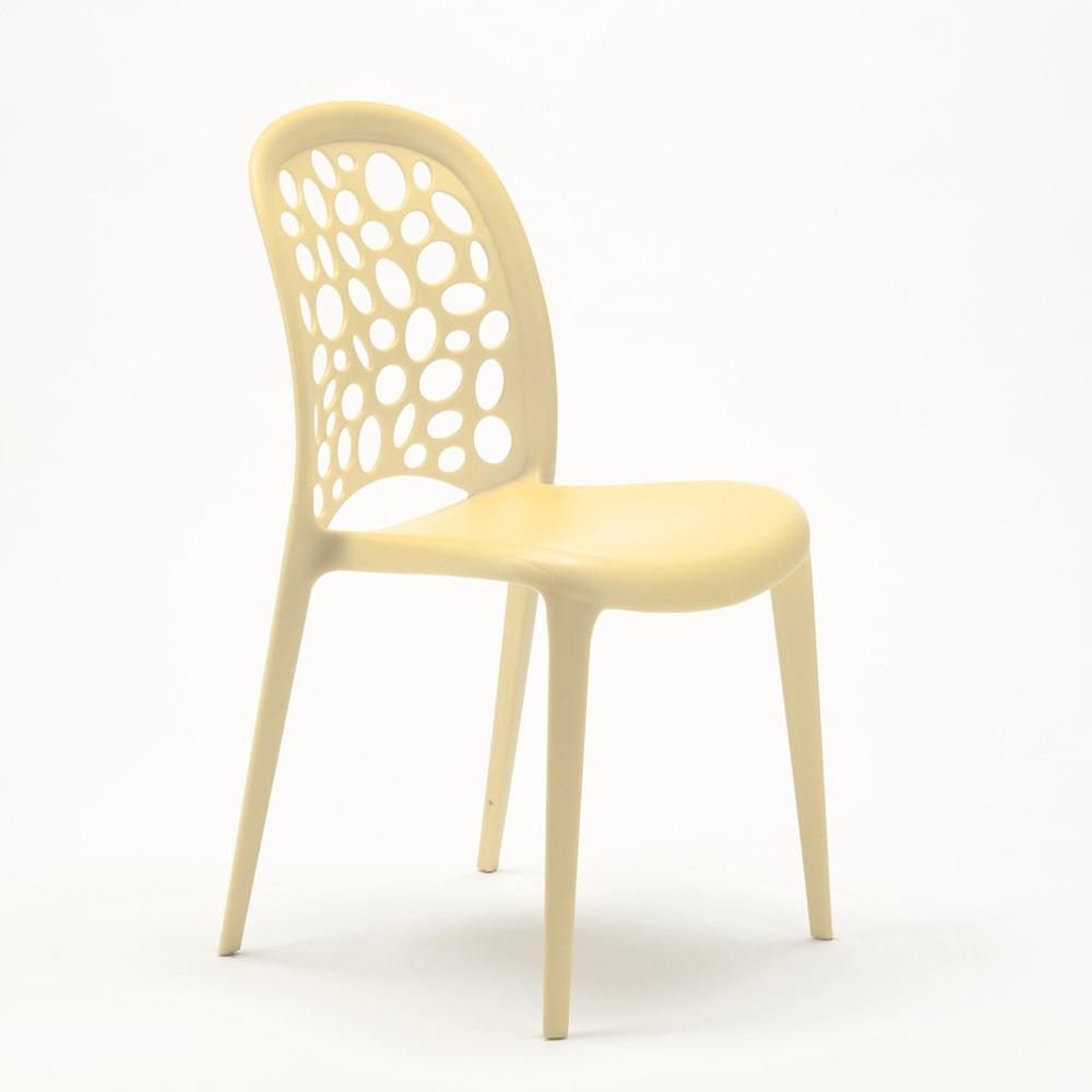 miniature 35 - Chaise salle à manger café bar restaurant jardin polypropylène empilable Design