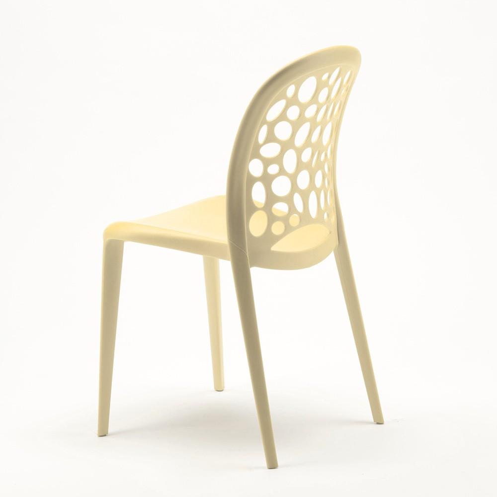 miniature 36 - Chaise salle à manger café bar restaurant jardin polypropylène empilable Design