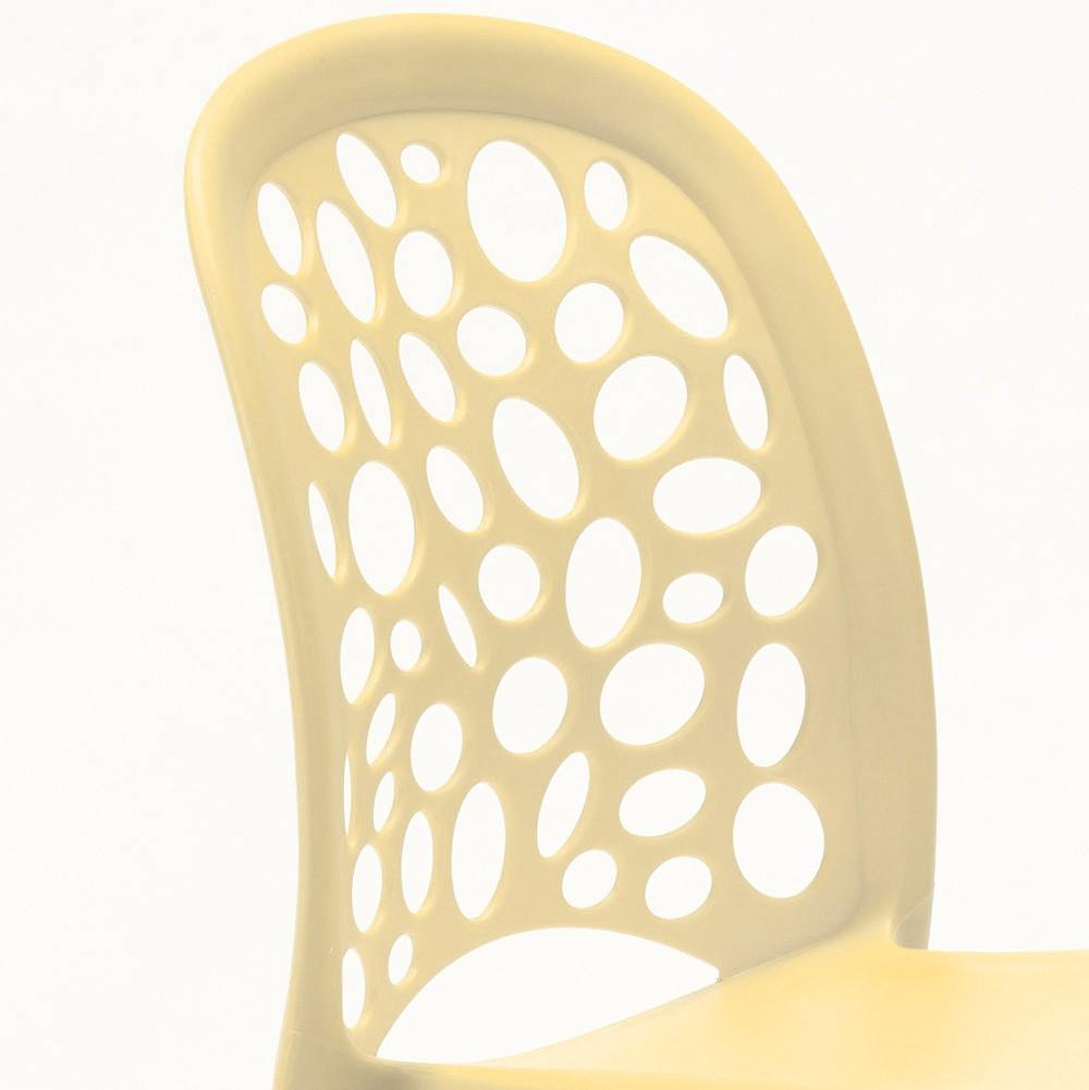 miniature 37 - Chaise salle à manger café bar restaurant jardin polypropylène empilable Design