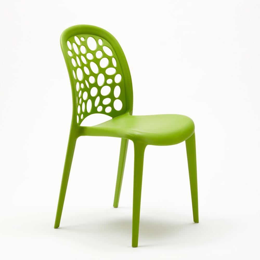 miniature 14 - Chaise salle à manger café bar restaurant jardin polypropylène empilable Design