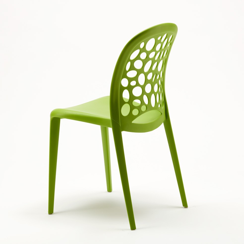 miniature 15 - Chaise salle à manger café bar restaurant jardin polypropylène empilable Design