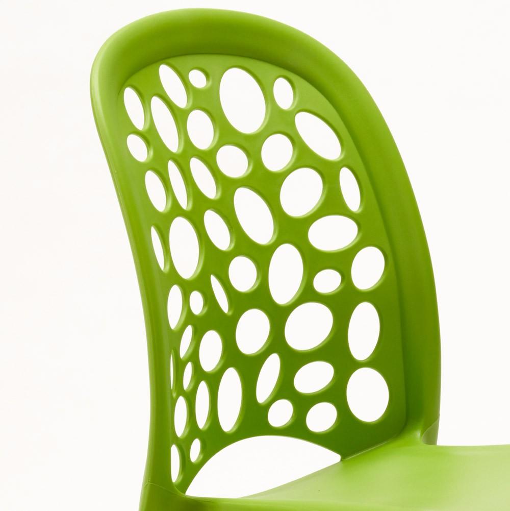 miniature 16 - Chaise salle à manger café bar restaurant jardin polypropylène empilable Design