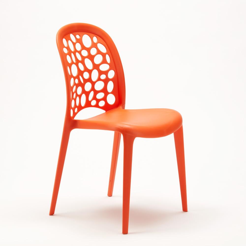 miniature 63 - Chaise salle à manger café bar restaurant jardin polypropylène empilable Design