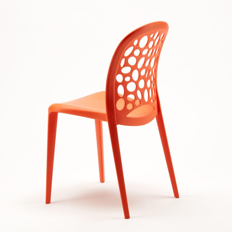 miniature 64 - Chaise salle à manger café bar restaurant jardin polypropylène empilable Design
