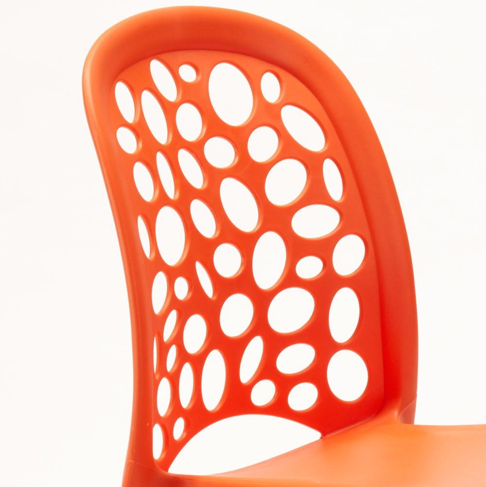 miniature 65 - Chaise salle à manger café bar restaurant jardin polypropylène empilable Design