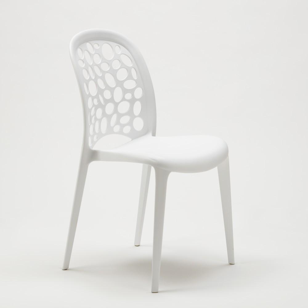 miniature 28 - Chaise salle à manger café bar restaurant jardin polypropylène empilable Design