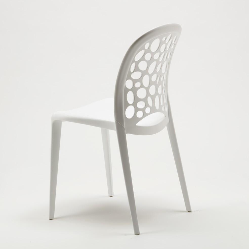 miniature 29 - Chaise salle à manger café bar restaurant jardin polypropylène empilable Design