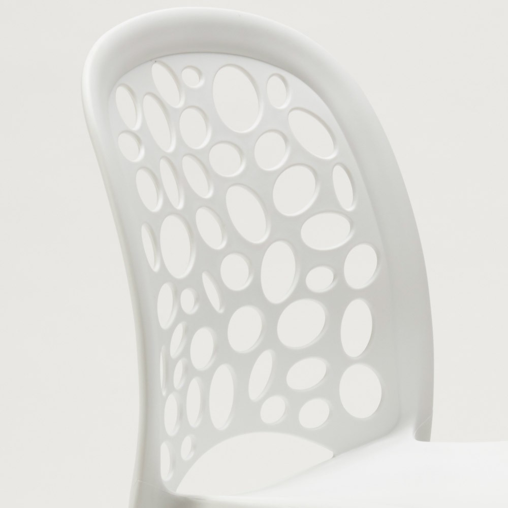 miniature 30 - Chaise salle à manger café bar restaurant jardin polypropylène empilable Design
