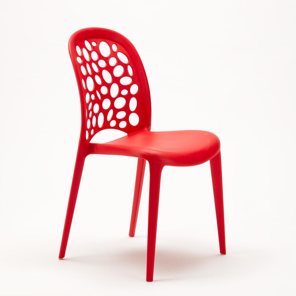 miniature 42 - Chaise salle à manger café bar restaurant jardin polypropylène empilable Design
