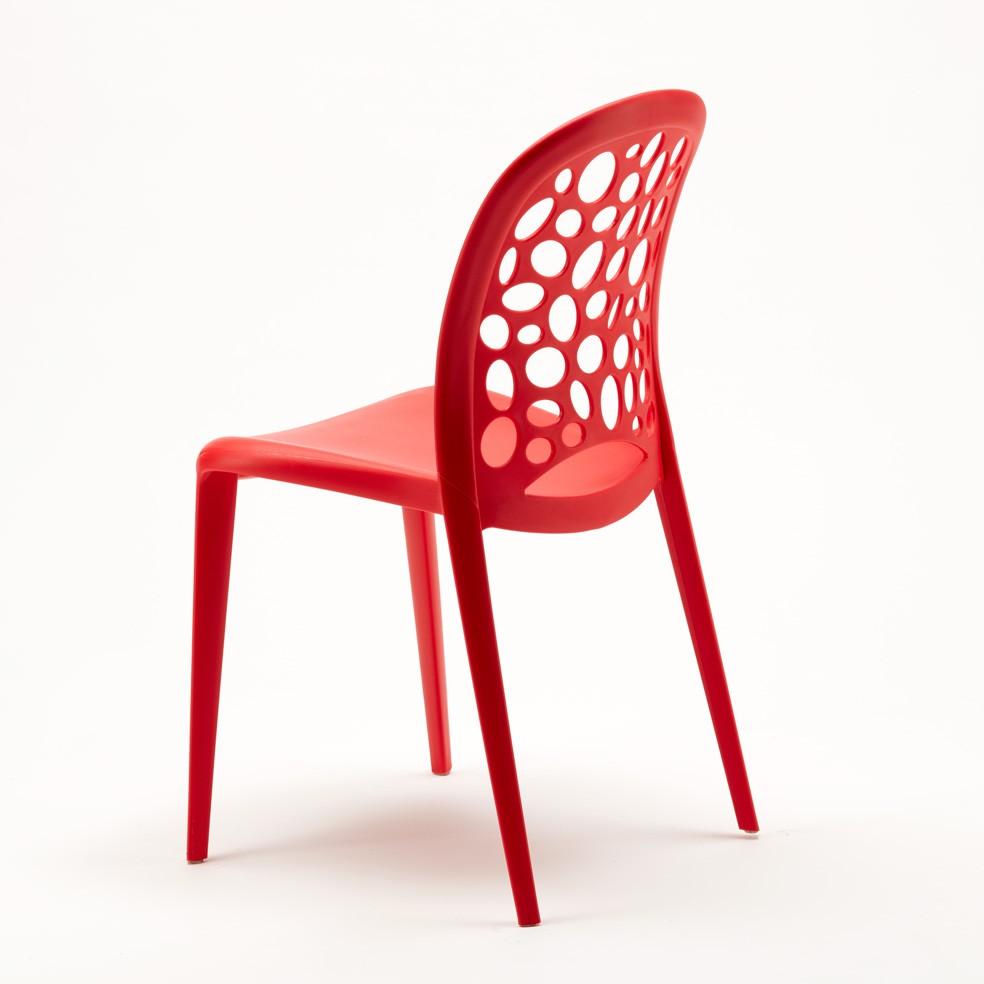 miniature 43 - Chaise salle à manger café bar restaurant jardin polypropylène empilable Design