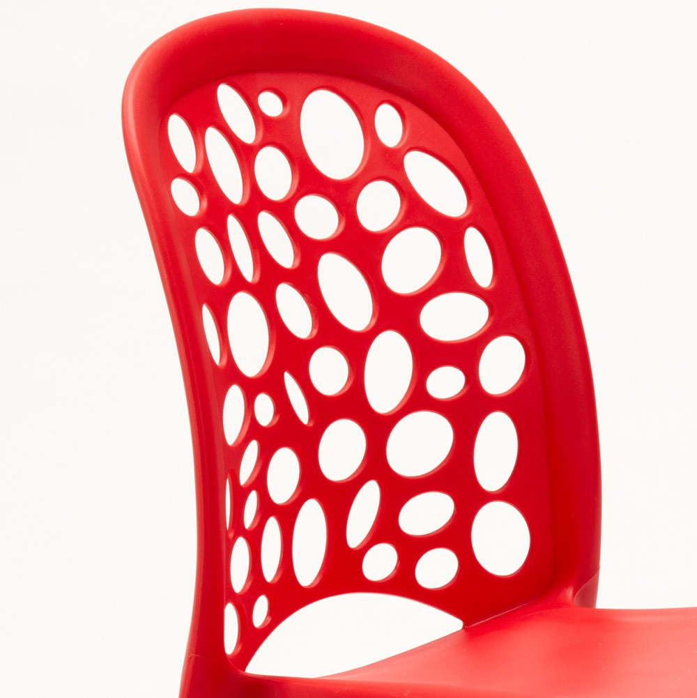 miniature 44 - Chaise salle à manger café bar restaurant jardin polypropylène empilable Design