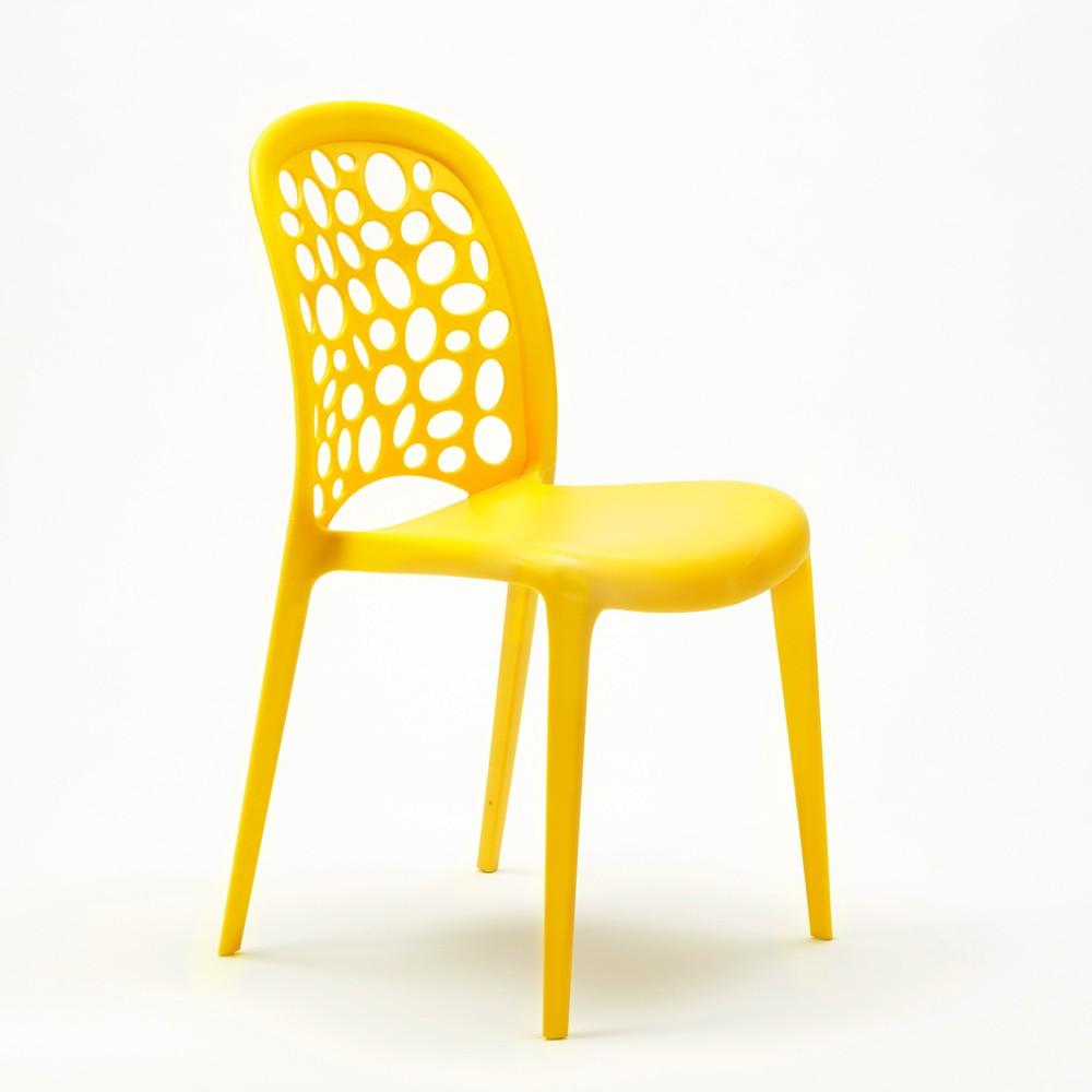 miniature 49 - Chaise salle à manger café bar restaurant jardin polypropylène empilable Design