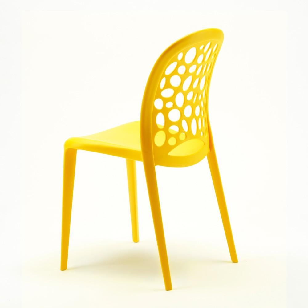 miniature 50 - Chaise salle à manger café bar restaurant jardin polypropylène empilable Design