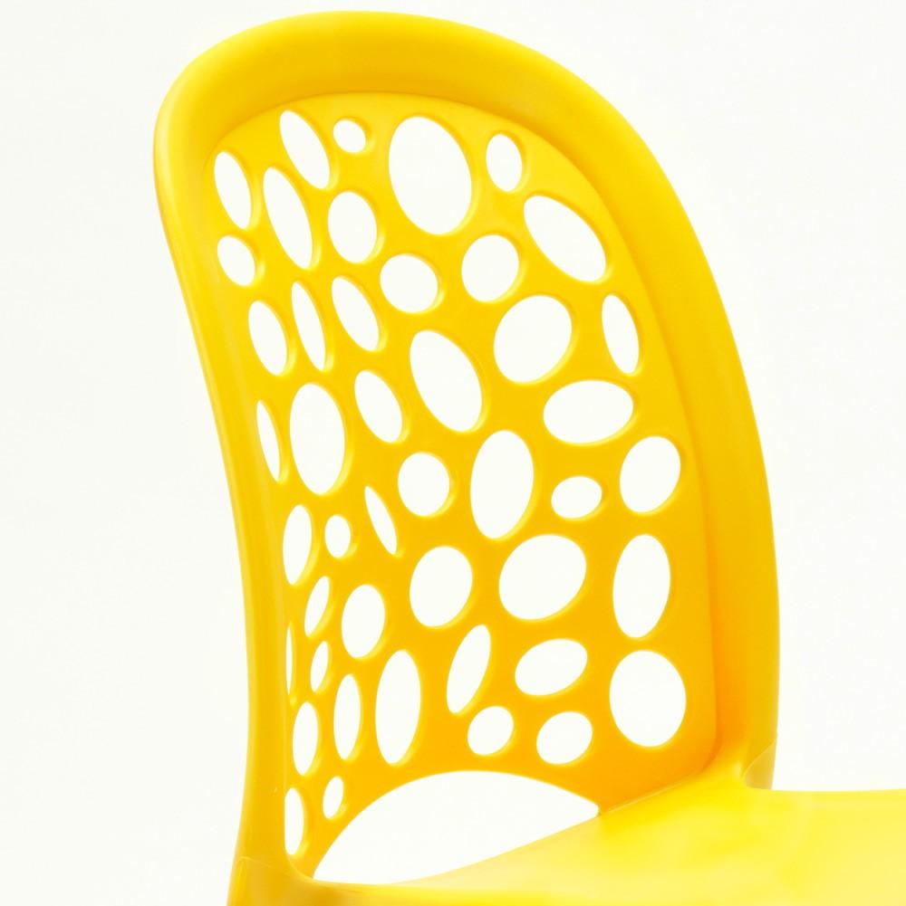 miniature 51 - Chaise salle à manger café bar restaurant jardin polypropylène empilable Design