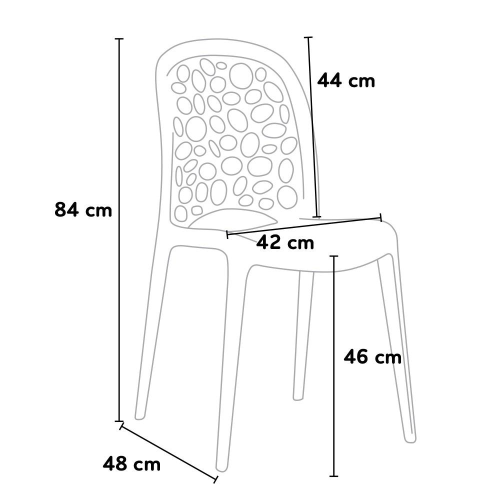 miniature 45 - Chaise salle à manger café bar restaurant jardin polypropylène empilable Design