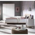 Lit une place et demi Blanc et Chêne 120x200cm Design Ludo - offerta