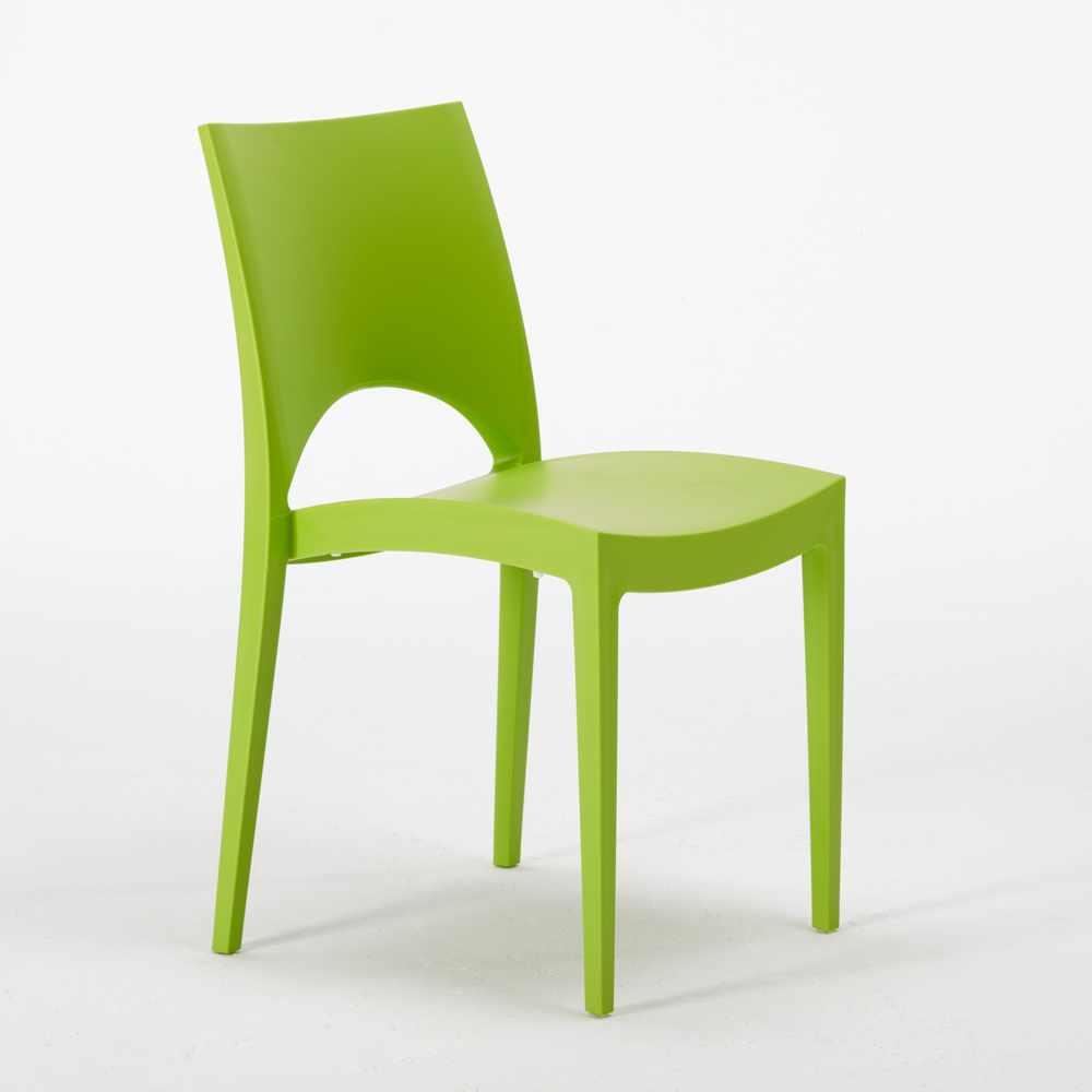 miniature 14 - Chaise en polypropylène empilable salle à manger bar Paris Grand Soleil