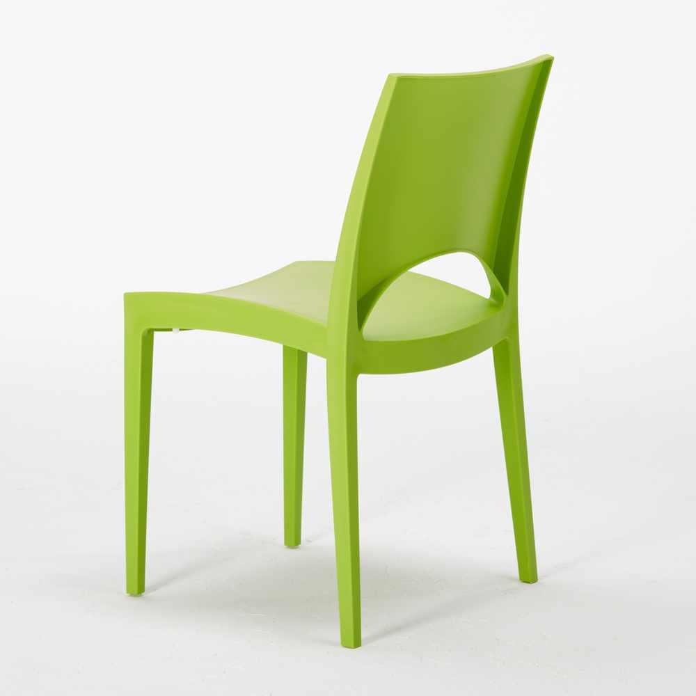 miniature 15 - Chaise en polypropylène empilable salle à manger bar Paris Grand Soleil