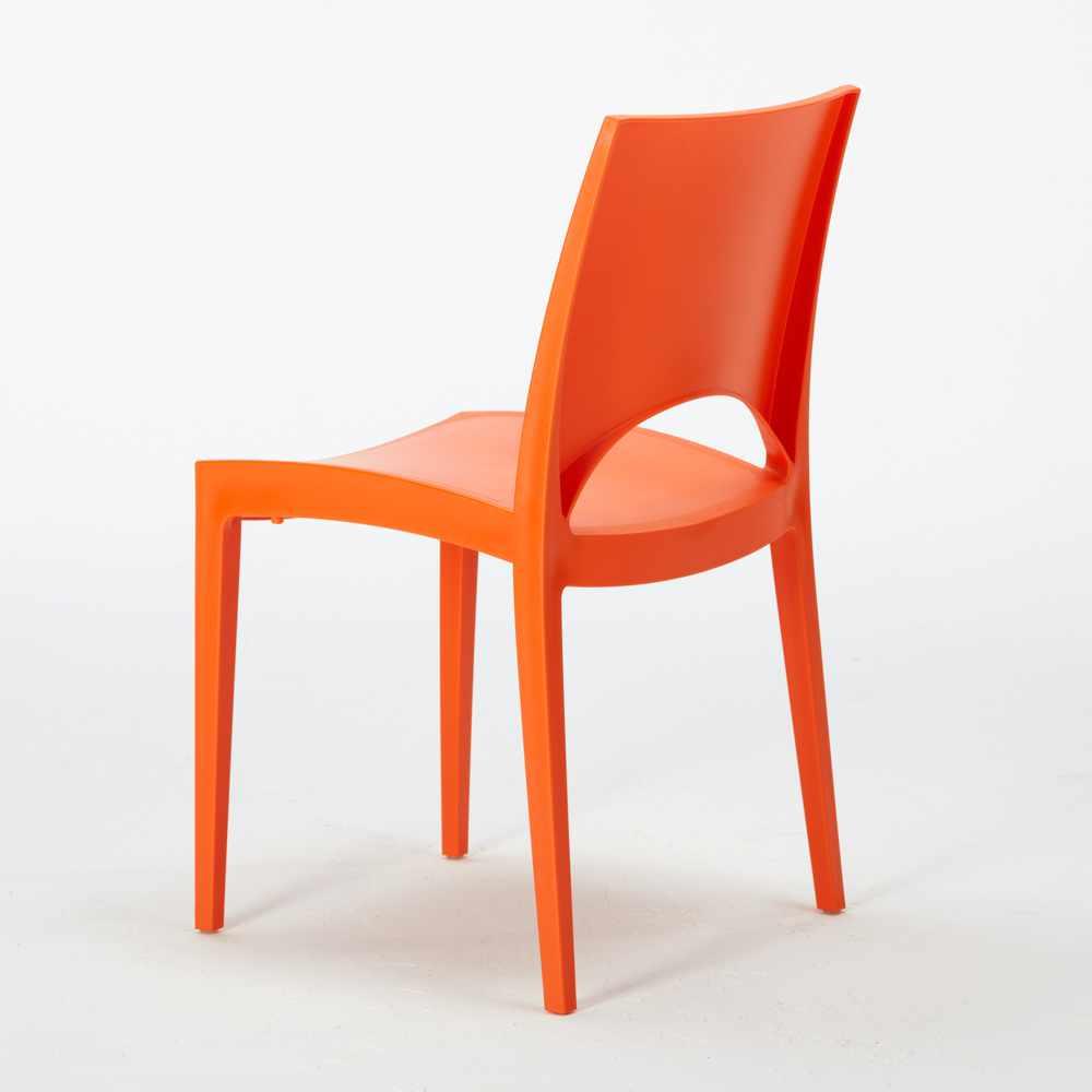miniature 42 - Chaise en polypropylène empilable salle à manger bar Paris Grand Soleil