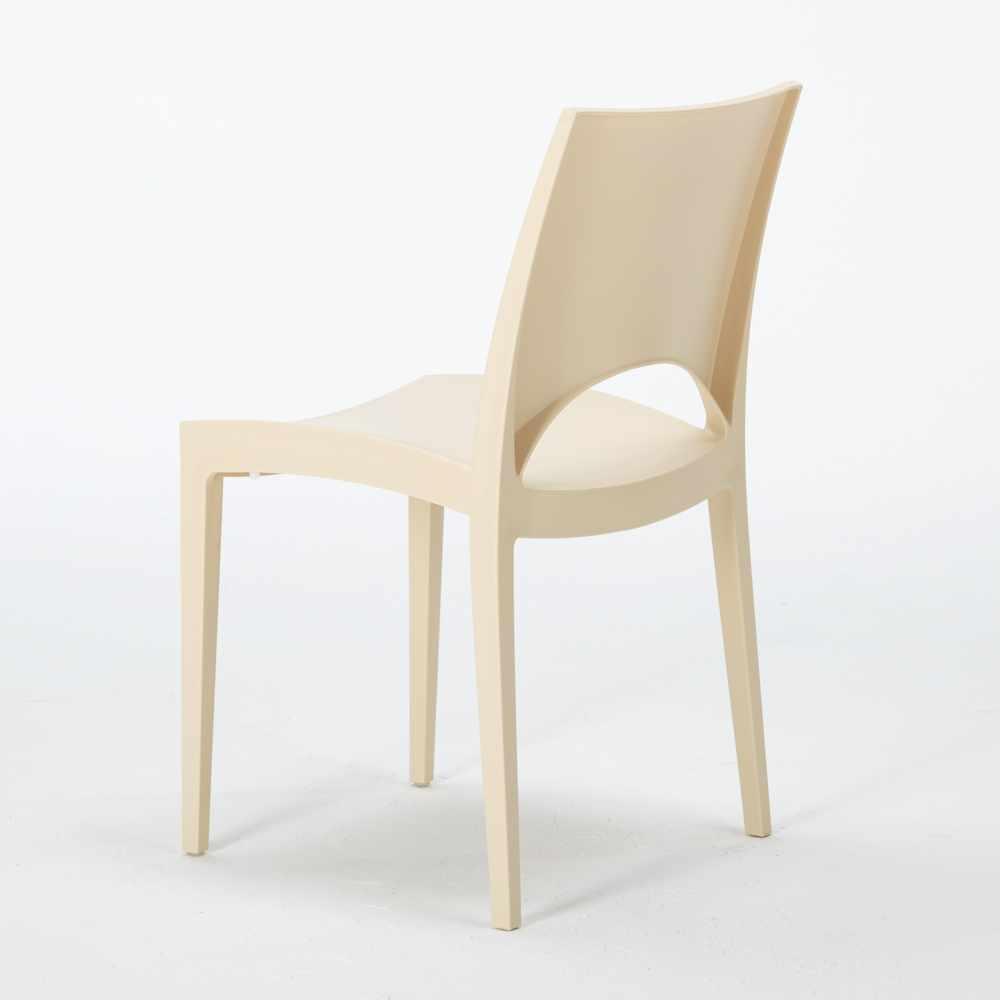 miniature 87 - Chaise en polypropylène empilable salle à manger bar Paris Grand Soleil